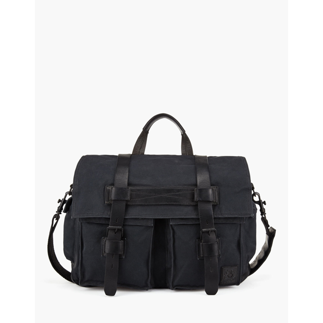 Men Belstaff COLONIAL MESSENGER SHOULDER BAG BLACK Outlet Online