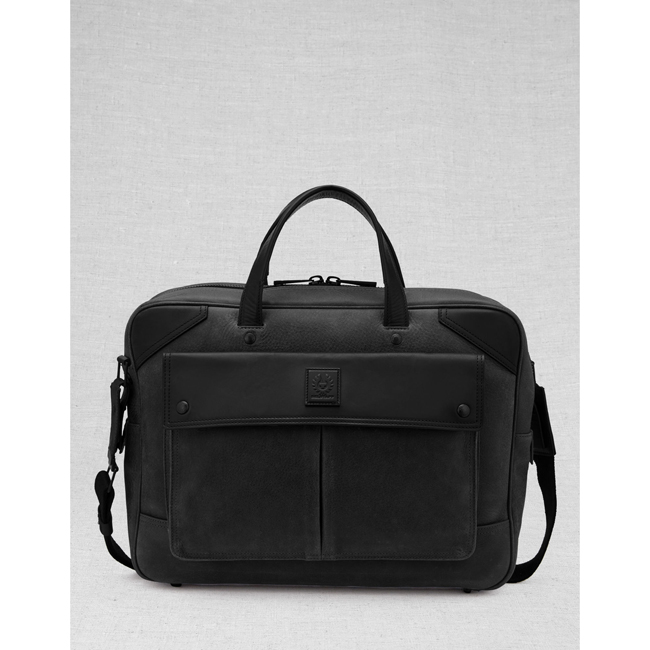 Men Belstaff CITYMASTER BRIEFCASE BLACK Outlet Online