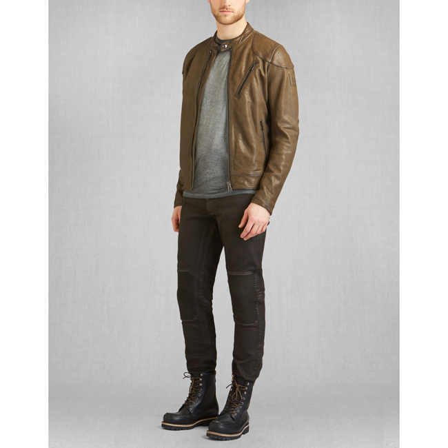 Men Belstaff MAXFORD BLOUSON JACKET Pale Military Outlet Online