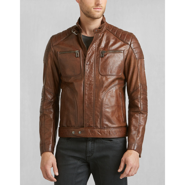 Men Belstaff WEYBRIDGE JACKET COGNAC Outlet Online