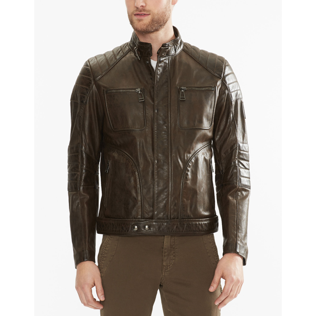 Men Belstaff WEYBRIDGE JACKET  BLACK/BROWN Outlet Online