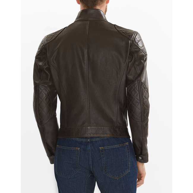 Men Belstaff BROOKLANDS MOTORCYCLE JACKET BLACK BROWN Outlet Online