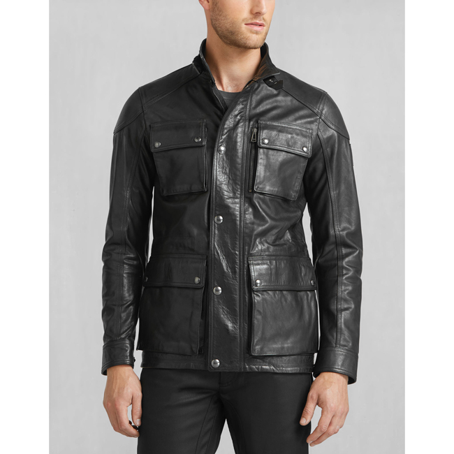 Men Belstaff TRIALMASTER 2015 JACKET BLACK Outlet Online