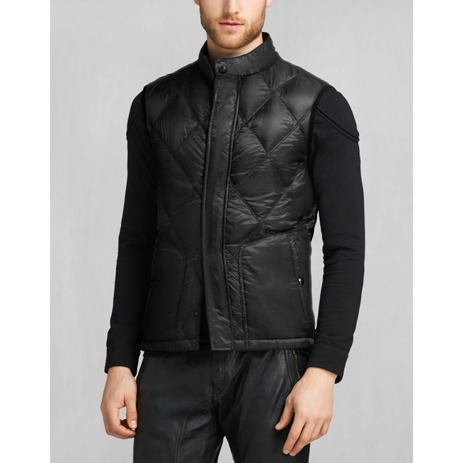 Men Belstaff WATKIN DOWN GILET BLACK Outlet Online