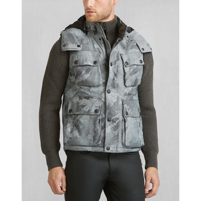 Men Belstaff WESTERLAND VEST LIGHT GREY Outlet Online