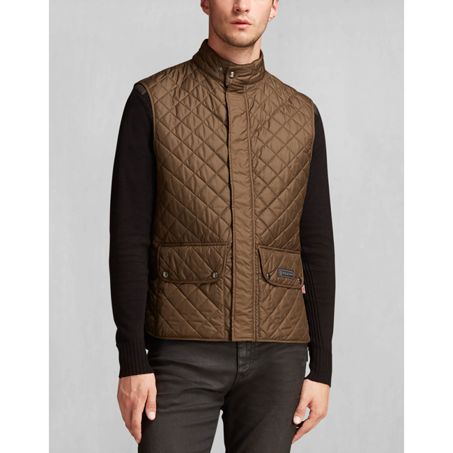 Men Belstaff THE WAISTCOAT FADED OLIVE Outlet Online