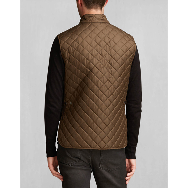 Men Belstaff QUILTED WAISTCOAT FADED OLIVE Outlet Online