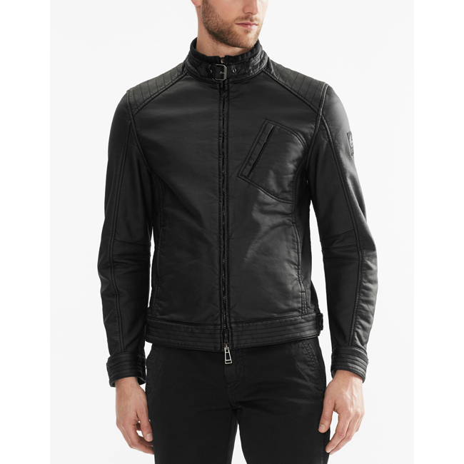 Men Belstaff H RACER JACKET BLACK Outlet Online