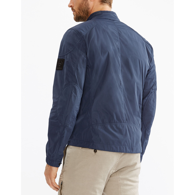 Men Belstaff STAPLEFORD BLOUSON JACKET NAVY BLUE Outlet Online