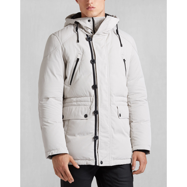 Men Belstaff DOWNHAM JACKET PALE GREY Outlet Online