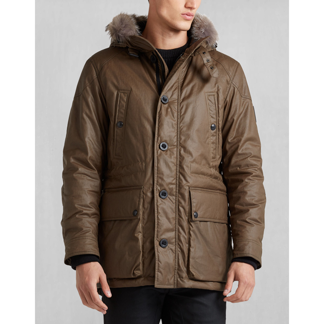 Men Belstaff PATHFINDER JACKET WITH FUR WINDSOR MOSS Outlet Online