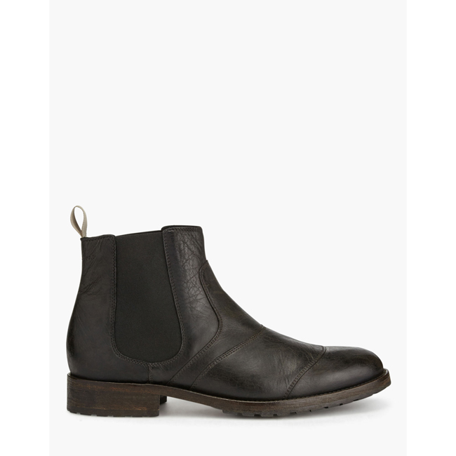 Men Belstaff LANCASTER ANKLE BOOTS  BLACK/BROWN Outlet Online