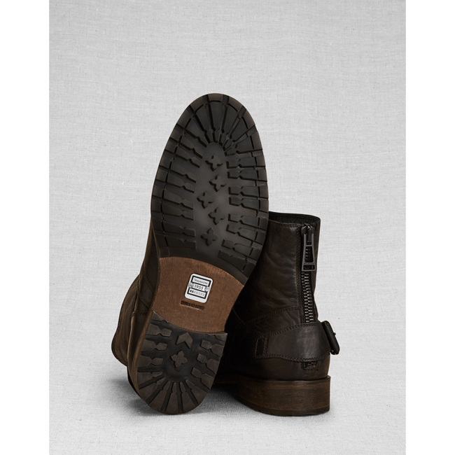 Men Belstaff TRIALMASTER SHORT BOOT BLACK Outlet Online