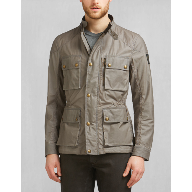 Men Belstaff TRIALMASTER JACKET ASH Outlet Online