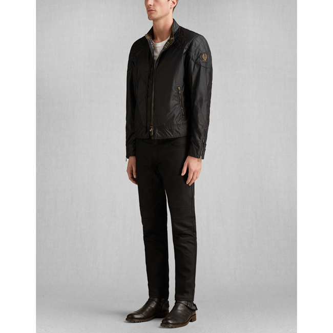 Men Belstaff THE OUTLAW BLOUSON BLACK Outlet Online