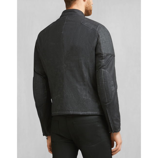 Men Belstaff JAMES HUNT ARCHER BLOUSON BLACK Outlet Online