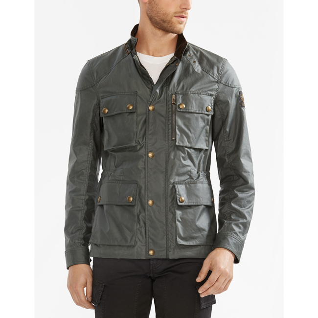 Men Belstaff TRIALMASTER JACKET ASH GREEN Outlet Online
