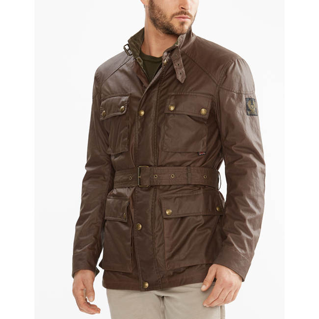 Men Belstaff THE ROADMASTER JACKET UMBER Outlet Online