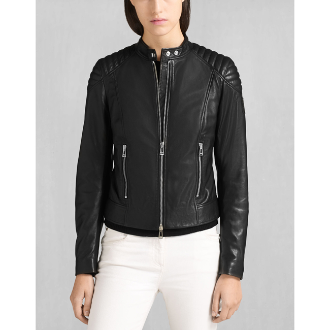 Women Belstaff MOLLISON JACKET BLACK Outlet Online