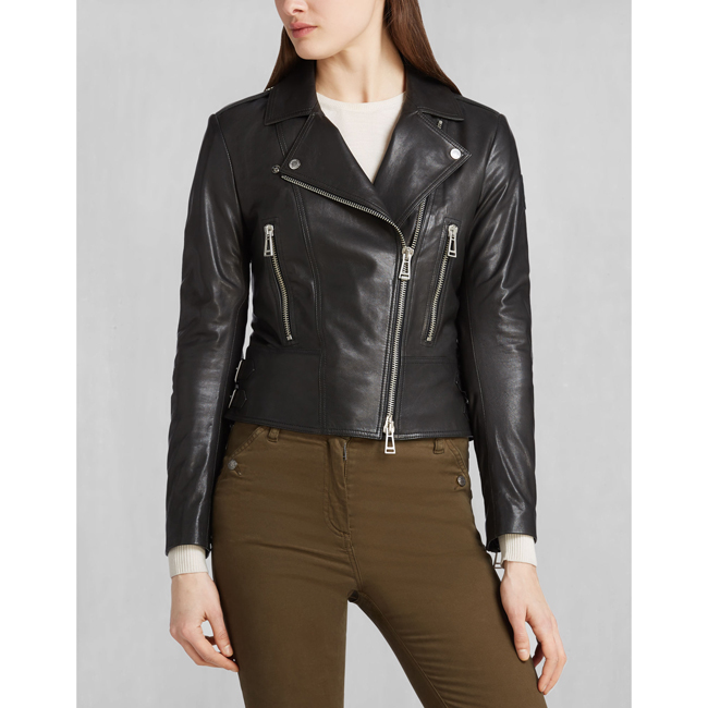 Women Belstaff MARVING-T BLOUSON BLACK Outlet Online