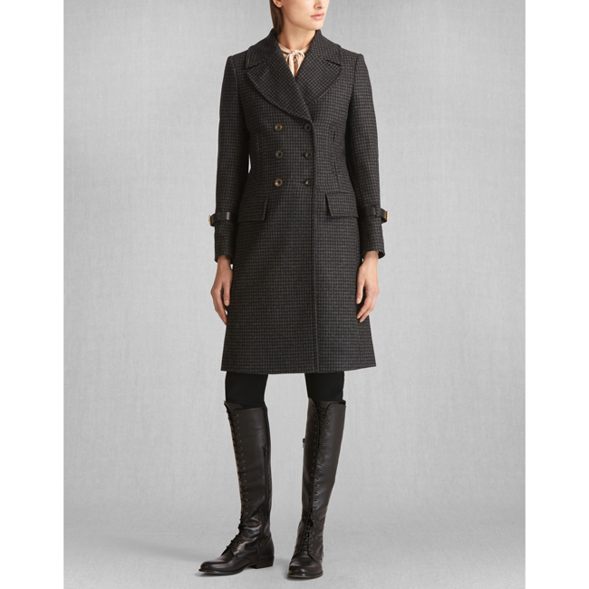 Women Belstaff LIV TYLER MILBURN COAT BLACK/CHARCOAL Outlet Online