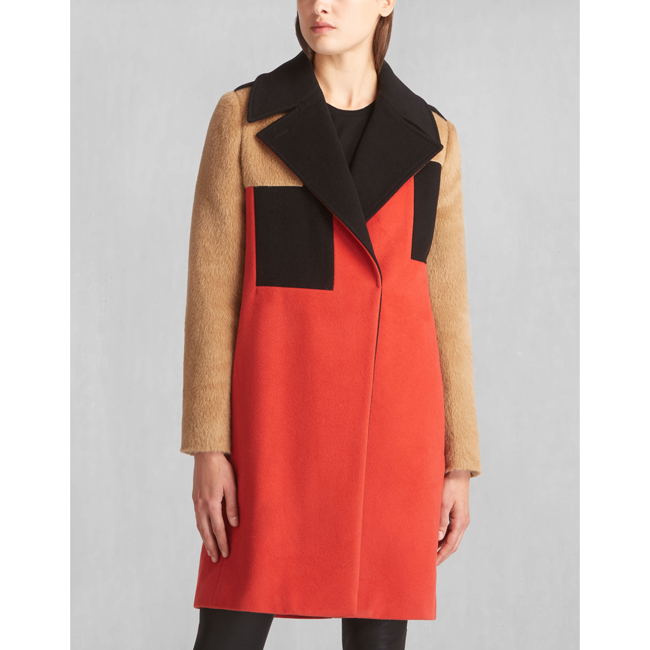 Women Belstaff ROLLINS COAT CORAL RED Outlet Online