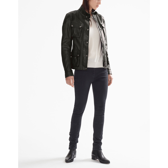 Women Belstaff CLASSIC TOURIST TROPHY JACKET ANTIQUE BLACK Outlet Online