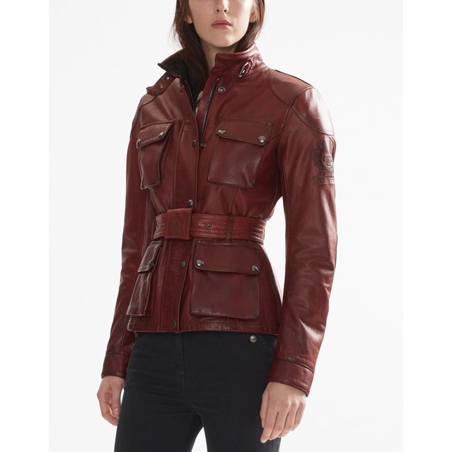 Women Belstaff CLASSIC TOURIST TROPHY JACKET BURNISHED RED Outlet Online