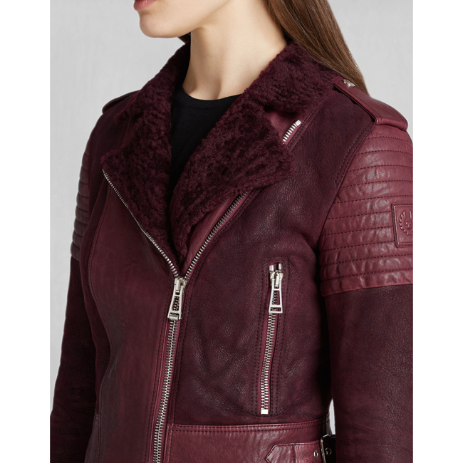Women Belstaff ELLSWORTH BLOUSON CLARET Outlet Online
