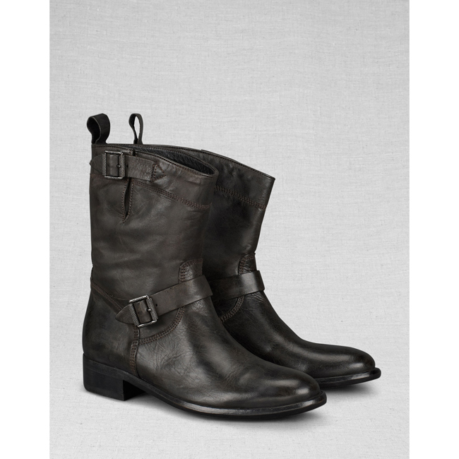 Women Belstaff BEDFORD SHORT BOOT  BLACK Outlet Online