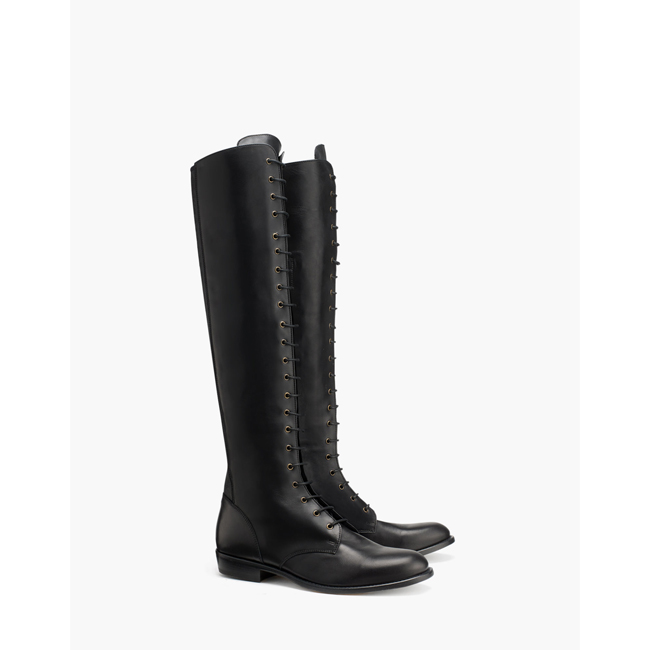 Women Belstaff HEPWORTH KNEE HIGH BOOTS  BLACK Outlet Online