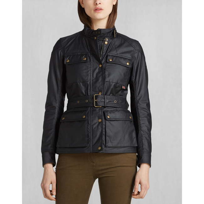 Women Belstaff ROADMASTER JACKET BLACK Outlet Online