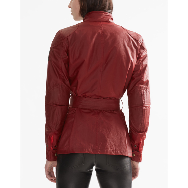Women Belstaff CLASSIC TOURIST TROPHY 4-POCKET MOTORCYCLE JACKET  RACING RED Outlet Online