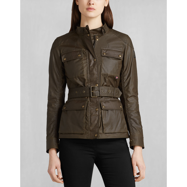 Women Belstaff ROADMASTER JACKET FADED OLIVE Outlet Online