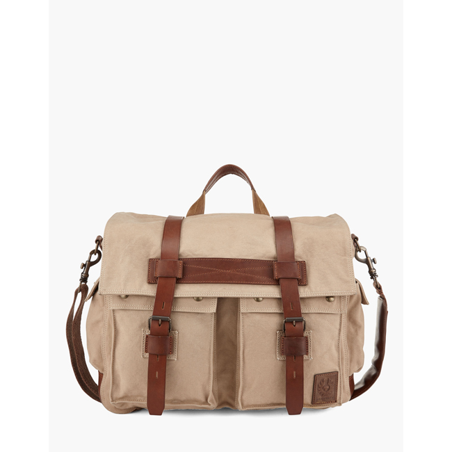 Men Belstaff COLONIAL MESSENGER SHOULDER BAG SAND Outlet Online