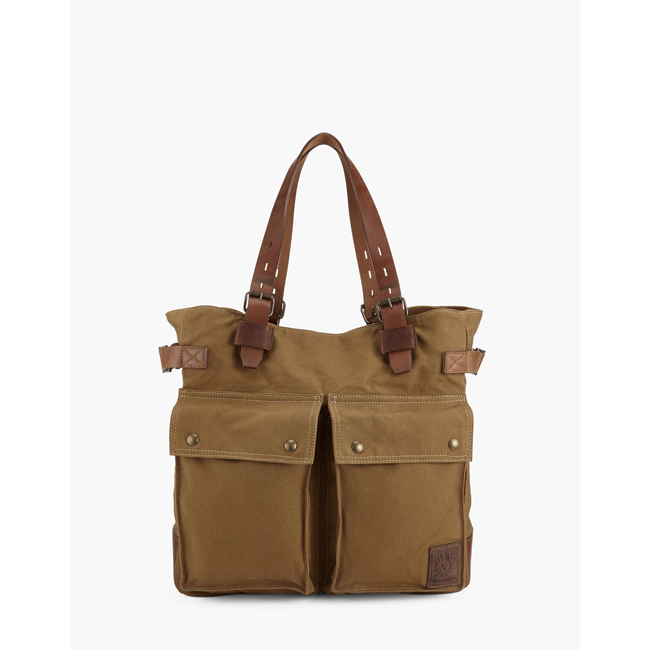 Men Belstaff COLONIAL MESSENGER SHOULDER BAG KHAKI Outlet Online