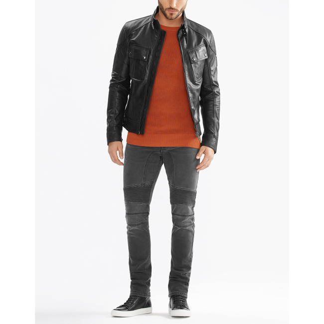 Men Belstaff ASHINGDALE JACKET BLACK Outlet Online