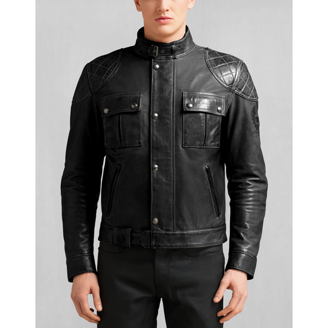 Men Belstaff BROOKLANDS MOTORCYCLE JACKET ANTIQUE BLACK Outlet Online
