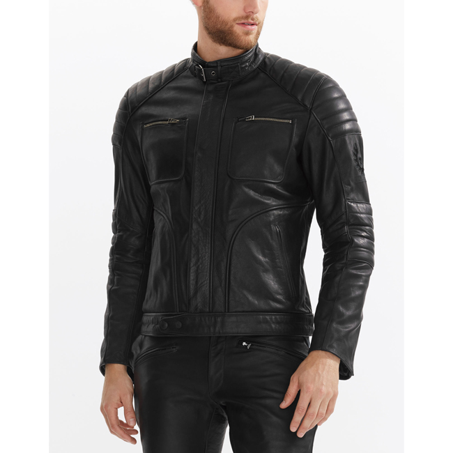 Men Belstaff RALEIGH JACKET BLACK Outlet Online
