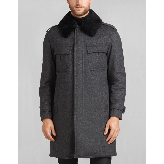 Men Belstaff FALKENHAM COAT CHARCOAL Outlet Online