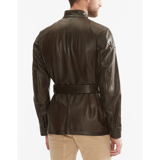 Men Belstaff THE PANTHER JACKET   BLACK/BROWN Outlet Online
