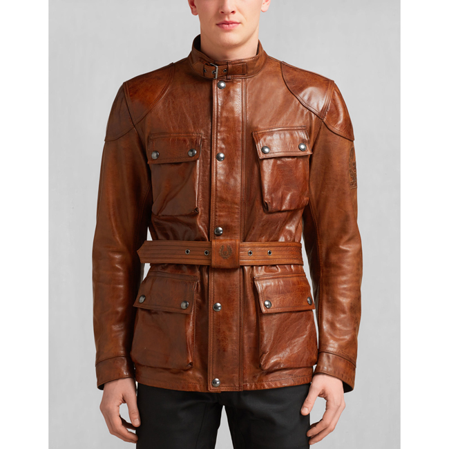 Men Belstaff CLASSIC TOURIST TROPHY JACKET BURNT CUERO Outlet Online