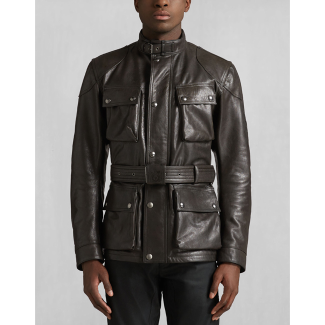 Men Belstaff CLASSIC TOURIST TROPHY JACKET ANTIQUE BLACK Outlet Online