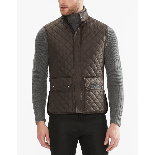 Men Belstaff QUILTED WAISTCOAT MAHOGANY Outlet Online