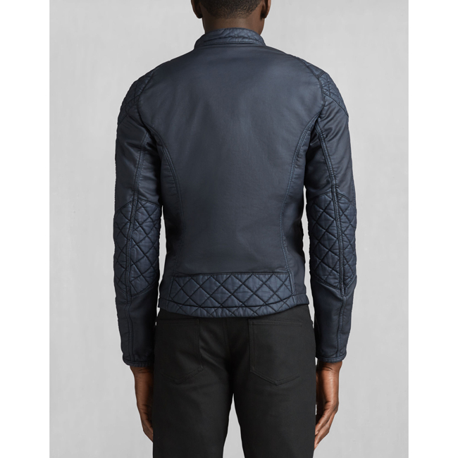 Men Belstaff XMAN RACING BLOUSON DENIM BLUE Outlet Online