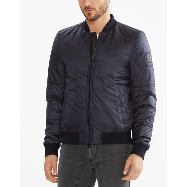Men Belstaff STONEFIELD BLOUSON JACKET DARK INK Outlet Online