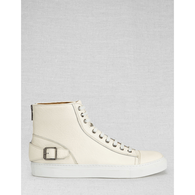 Men Belstaff BOROUGH HIGH-TOP SNEAKERS OFF WHITE Outlet Online