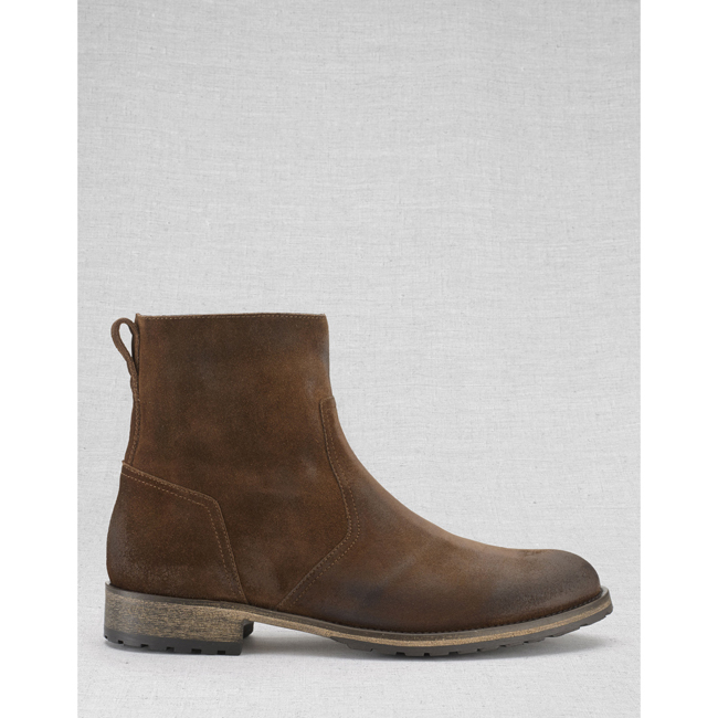 Men Belstaff ATTWELL SHORT BOOTS OAK BROWN Outlet Online