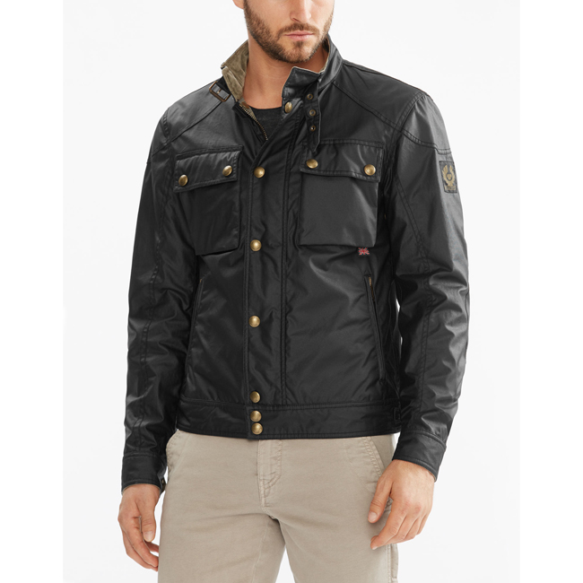 Men Belstaff RACEMASTER BLOUSON JACKET BLACK Outlet Online