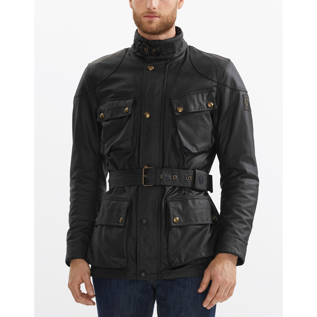 Men Belstaff CLASSIC TOURIST TROPHY 4-POCKET MOTORCYCLE JACKET BLACK Outlet Online